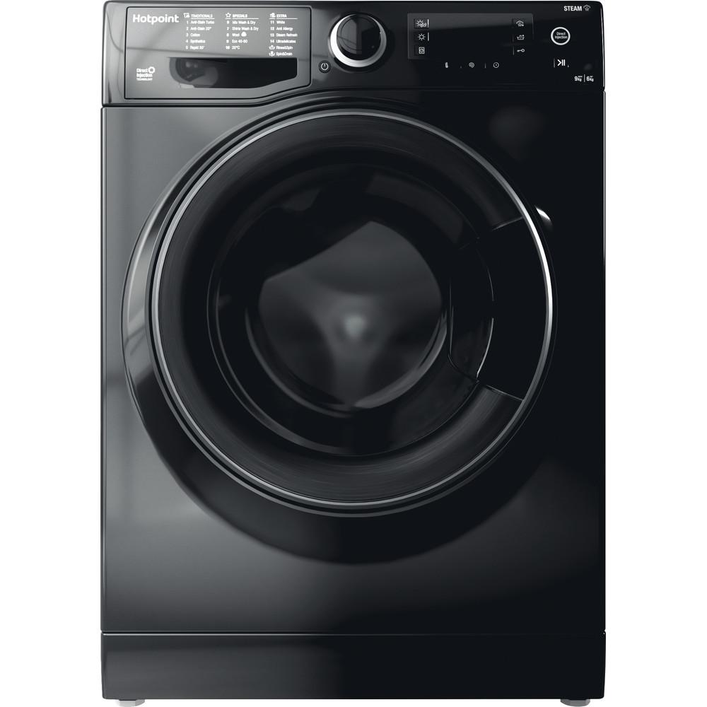 Hotpoint Washer dryer Free-standing RD 966 JKD UK N Black Front loader Frontal