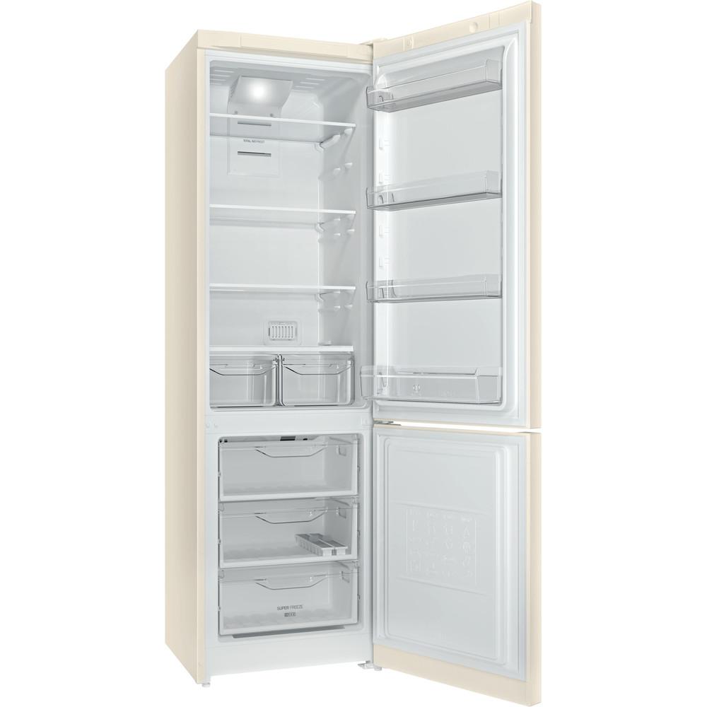 Indesit Холодильник с морозильной камерой Отдельностоящий DF 5200 E Розово-белый 2 doors Perspective open