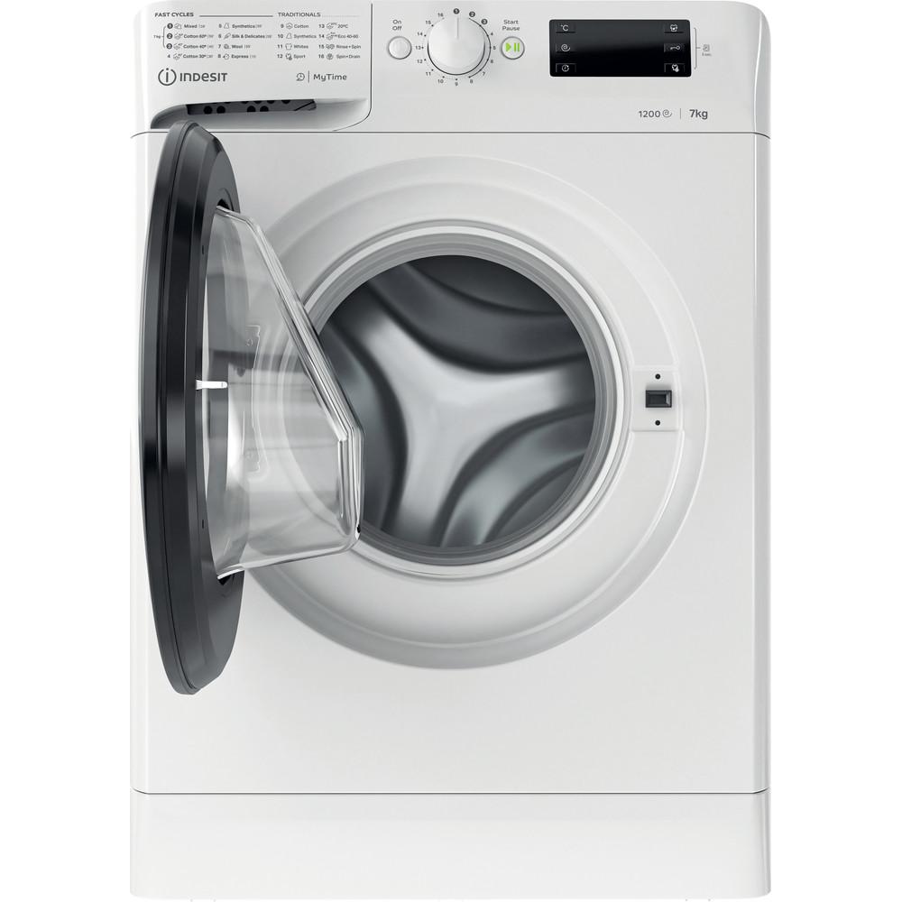 Indsit Maşină de spălat rufe Independent MTWE 71252 WK EE Alb Încărcare frontală A +++ Frontal open