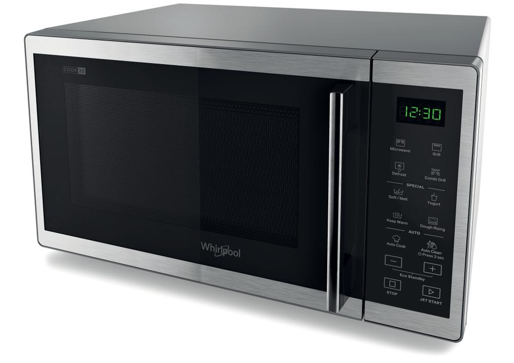 Whirlpool Microwave Samostojni MWP 253 SX Inox Elektronsko 25 Mikrovalovna pečica z grilom 900 Perspective