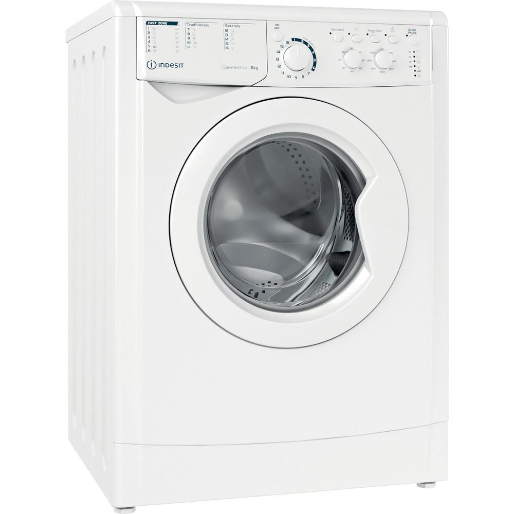 Indesit Wasmachine Vrijstaand EWC 81483 W EU N Wit Voorlader D Perspective