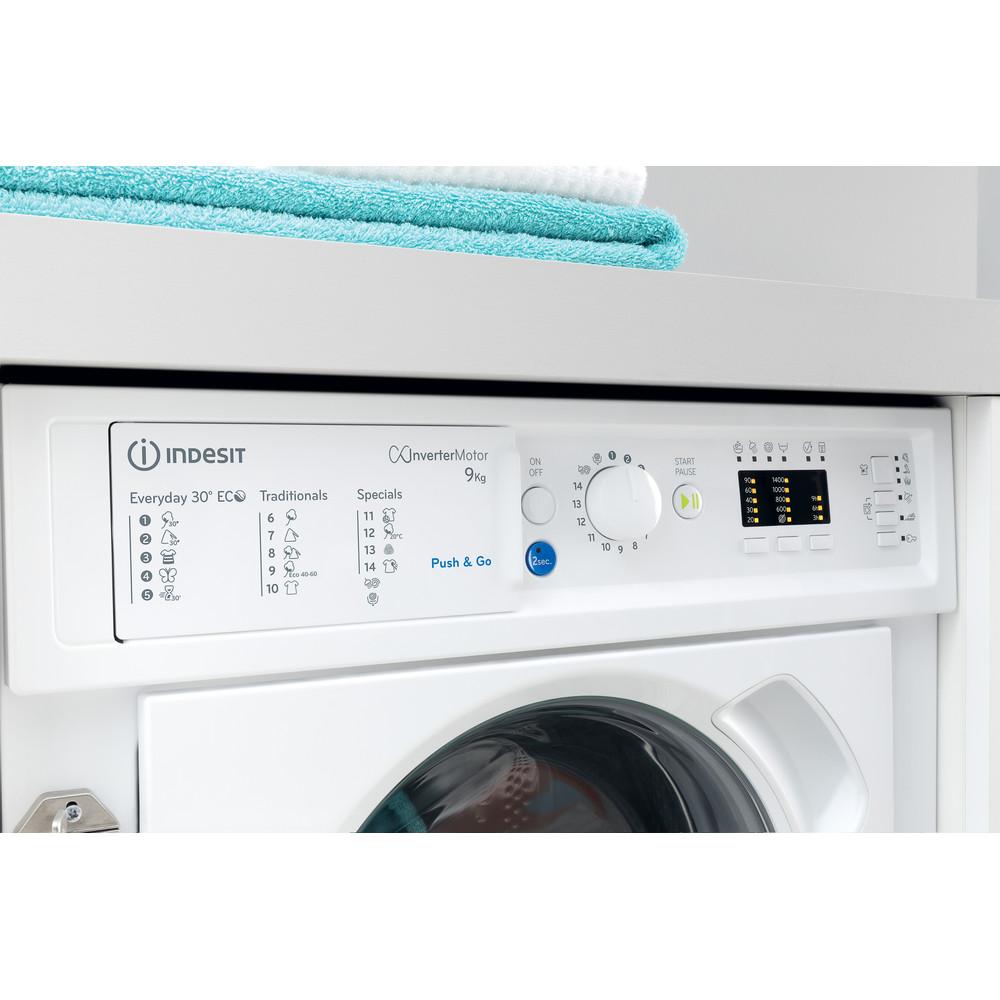 Indesit Lave-linge Encastrable BI WMIL 91484 EU Blanc Lave-linge frontal C Lifestyle control panel