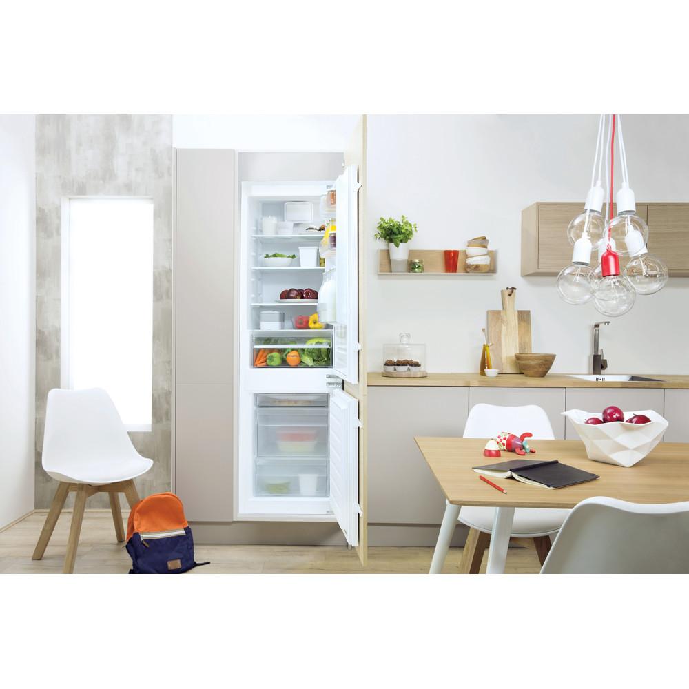 Indesit Combinazione Frigorifero/Congelatore Da incasso B 18 A1 D V E/I 1 Bianco 2 porte Lifestyle frontal open