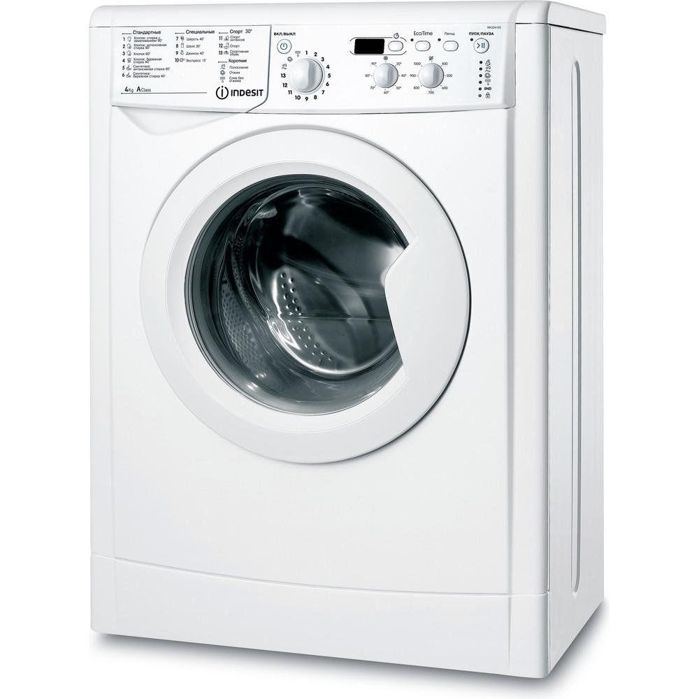 Indesit Стиральная машина Отдельностоящий IWUD 4105 (CIS) Белый Фронтальная загрузка A Perspective