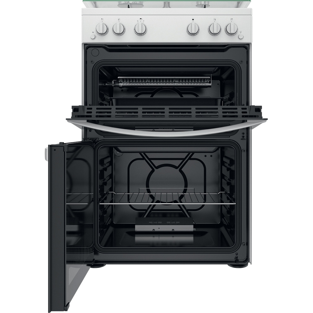 Indesit Double Cooker ID67G0MCW/UK White A+ Frontal open