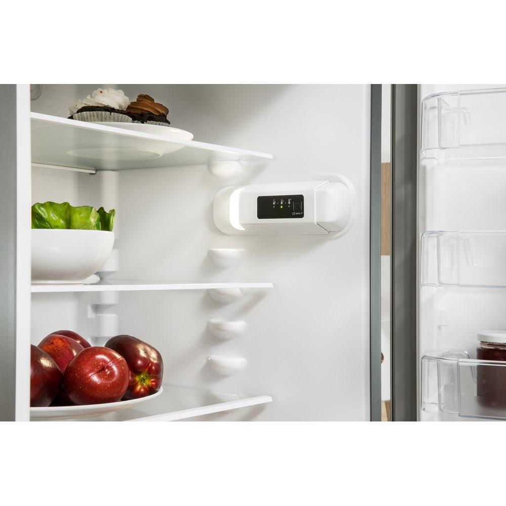 Indesit Combinación de frigorífico / congelador Libre instalación LR9 S2Q F X B Óptica Inox 2 doors Lifestyle control panel