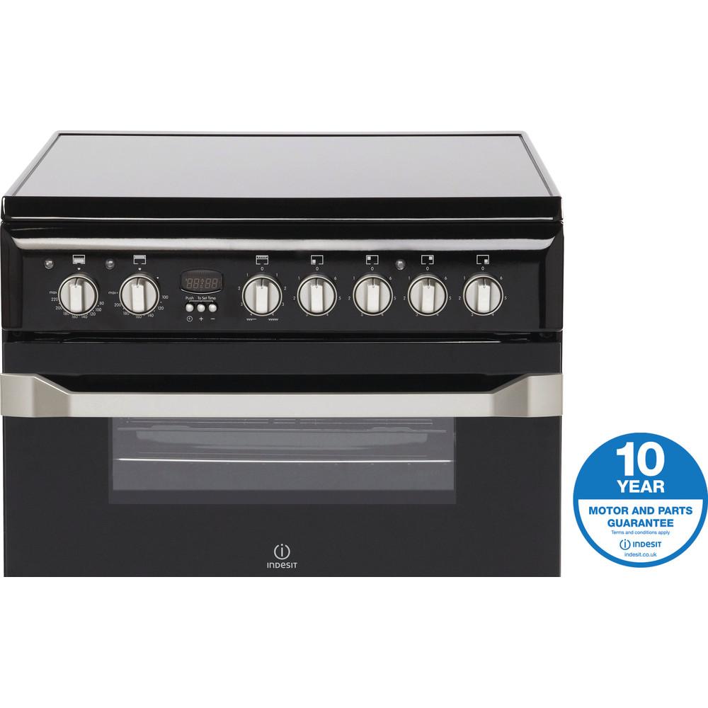 Indesit Double Cooker ID60C2(K) S Black B Vitroceramic Award
