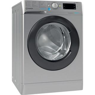 Indesit Waschmaschine Freistehend BWE 91484XE SK DE N Silber Frontlader C Perspective