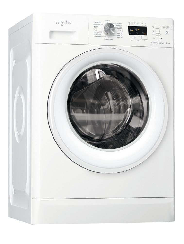 Whirlpool Maşină de spălat rufe De sine statator FFL 6238 W EE Alb Încărcare frontală D Perspective