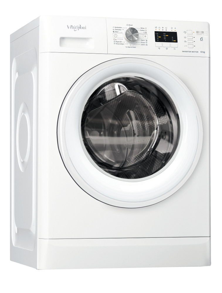 Whirlpool Washing machine Samostojni FFL 6238 W EE Bela Front loader D Perspective