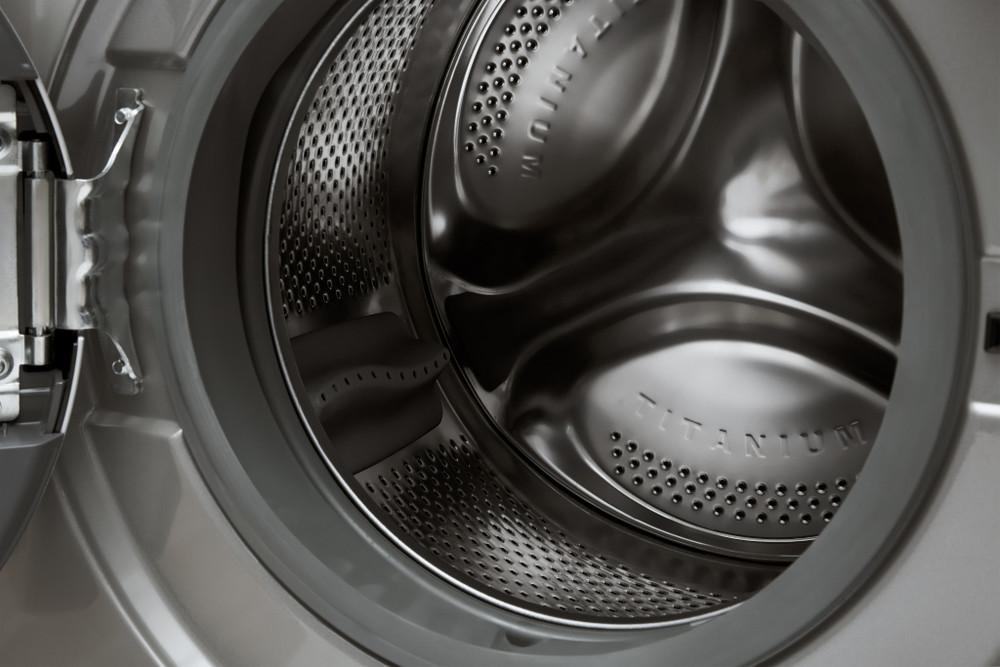 Whirlpool Washer dryer Free-standing FWDG96148SBS ZA Silver Front loader Drum
