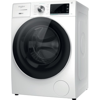 Whirlpool Washing machine Free-standing W8 W946WR UK White Front loader A Perspective