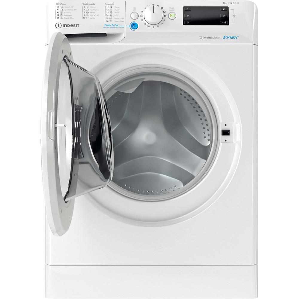 Indesit Перална машина Свободностоящи BWE 81284X W EE N Бял Предно зареждане C Frontal open
