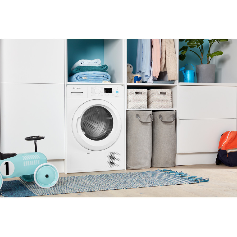 Indesit Dryer YT M10 71 R UK White Lifestyle perspective