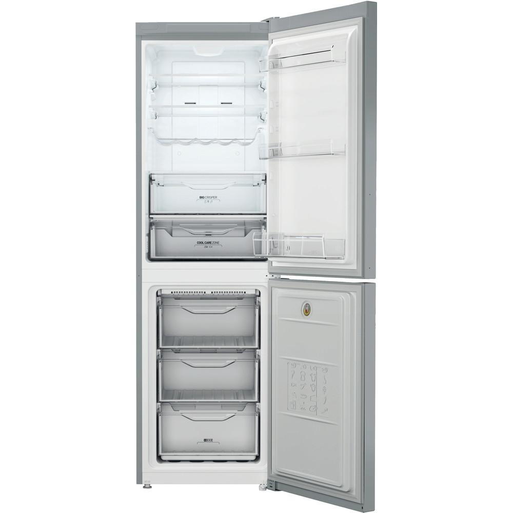 Indesit Combinazione Frigorifero/Congelatore A libera installazione XI8 T2Y X B Inox 2 porte Frontal open
