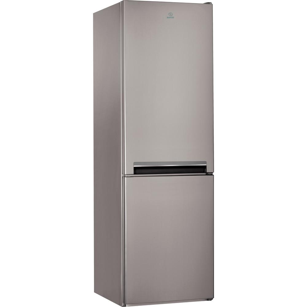 Indesit Kombinovaná chladnička s mrazničkou Volně stojící LI8 S2 X Nerez 2 doors Perspective