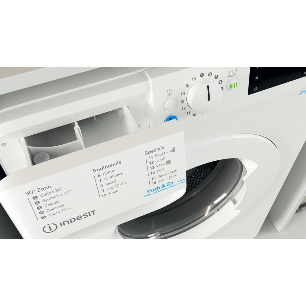 Indesit Washing machine Free-standing BWE 71452 W UK N White Front loader E Drawer