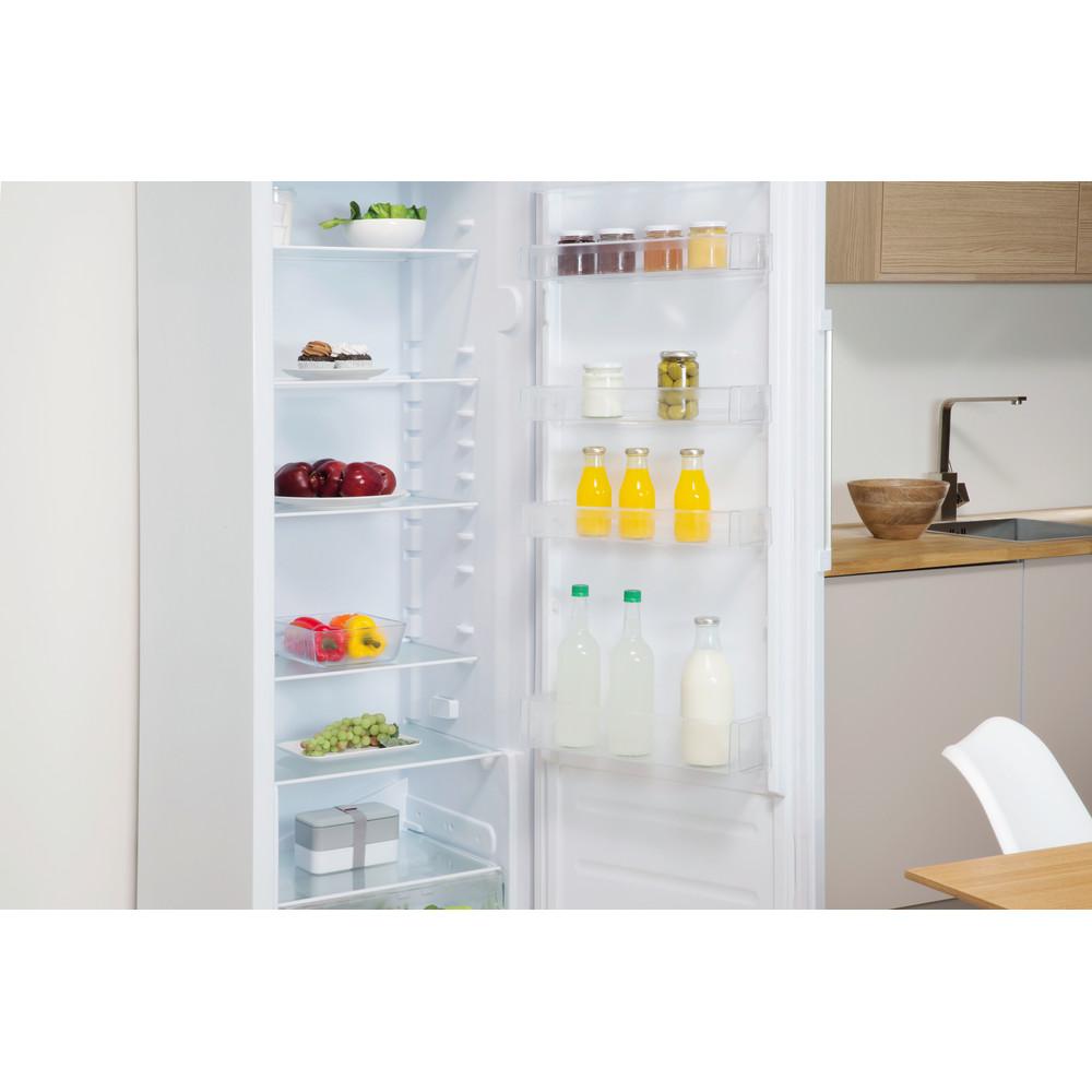 Indesit Réfrigérateur Pose-libre SI4 1 W1 Blanc Lifestyle perspective open