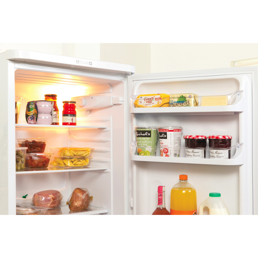 Indesit Комбиниран хладилник с камера Свободностоящи NCAA 55 Бял 2 врати Lifestyle perspective open
