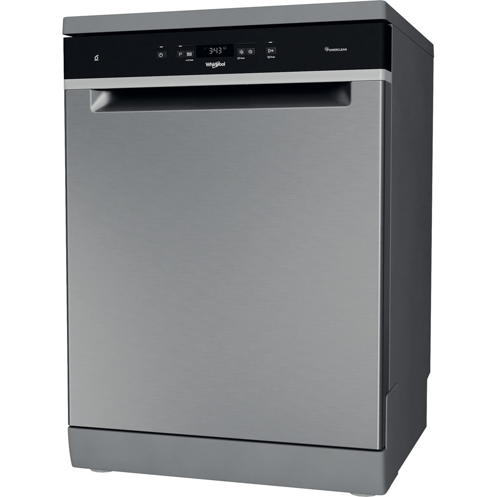 Whirlpool Supreme Clean WFC 3C33 PF X UK Dishwasher - Stainless Steel