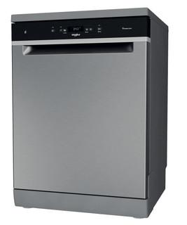 Whirlpool dishwasher: inox color, full size - WFC 3C33 PF X UK
