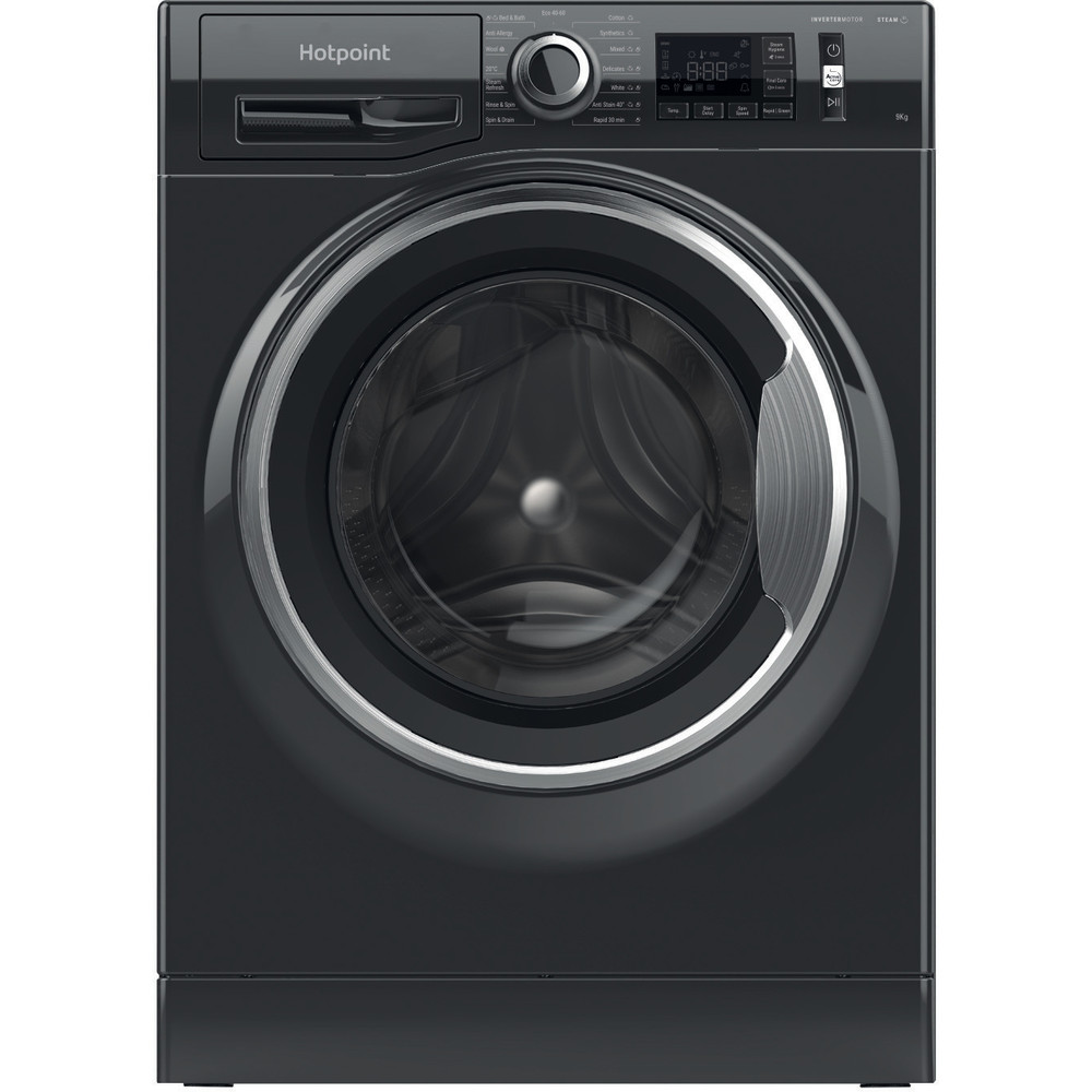 Hotpoint Washing machine Free-standing NM11 945 BC A UK N Black Front loader A+++ Frontal