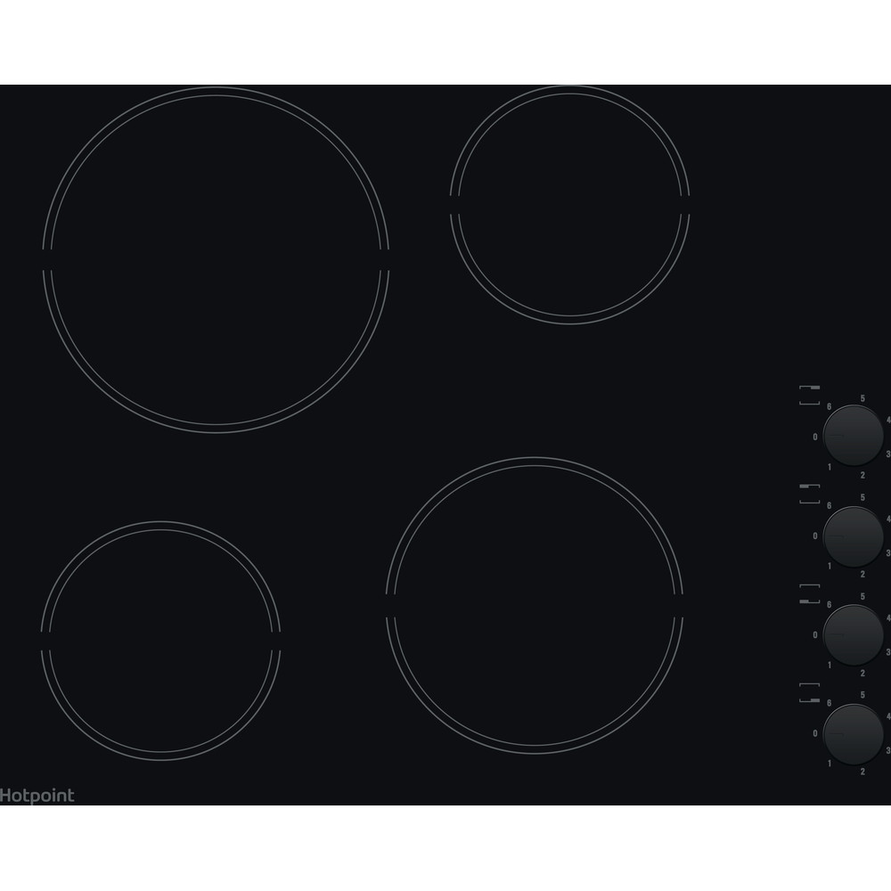 Hotpoint HOB HR 619 C H Black Radiant vitroceramic Frontal