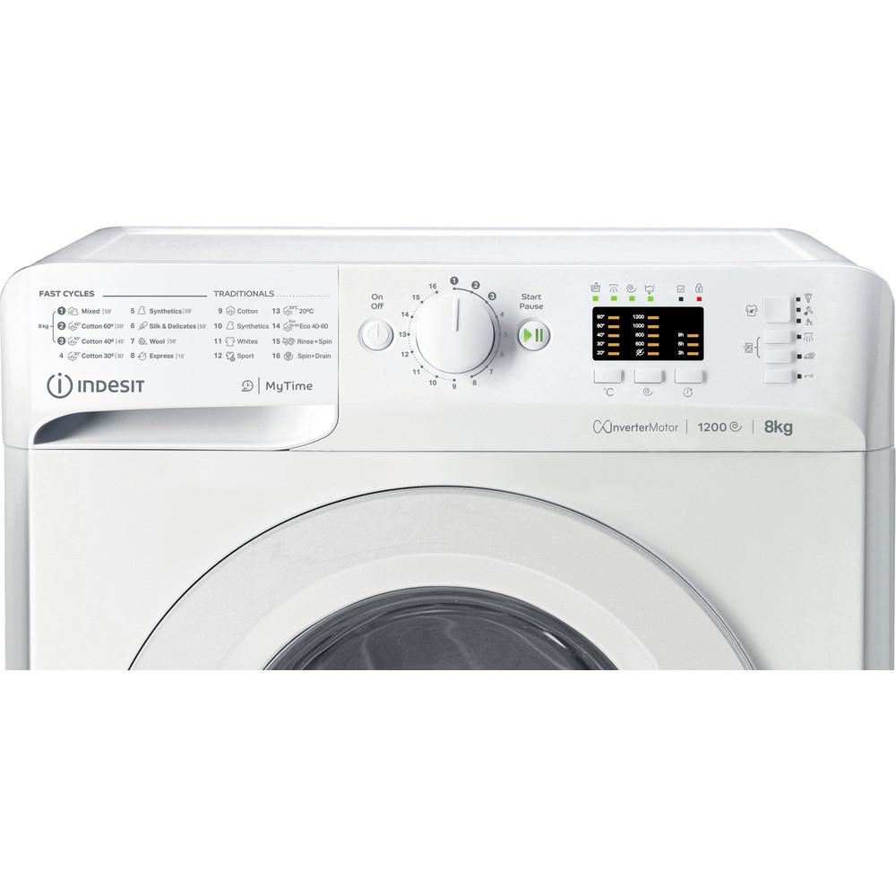 Indsit Maşină de spălat rufe Independent MTWA 81283 W EE Alb Încărcare frontală A +++ Control panel