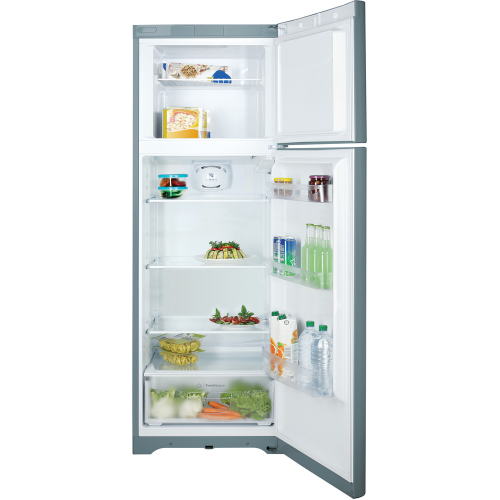 Indesit Combinación de frigorífico / congelador Libre instalación TIAA 10 V SI.1 Plata 2 doors Frontal open