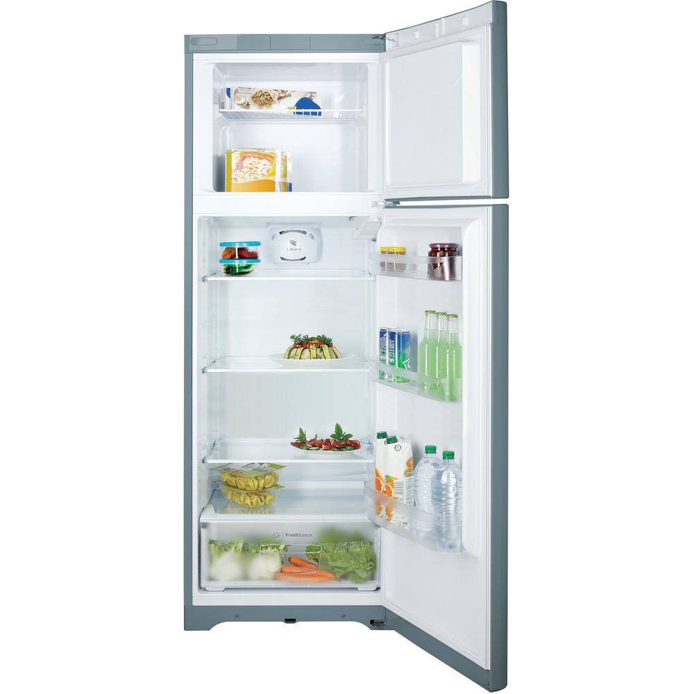 Indesit Combinazione Frigorifero/Congelatore A libera installazione TIAA 10 V SI.1 Argento 2 porte Frontal open