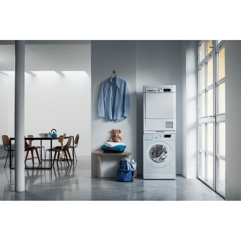 Indesit Washing machine Free-standing BWE 91683X W UK N White Front loader D Lifestyle frontal