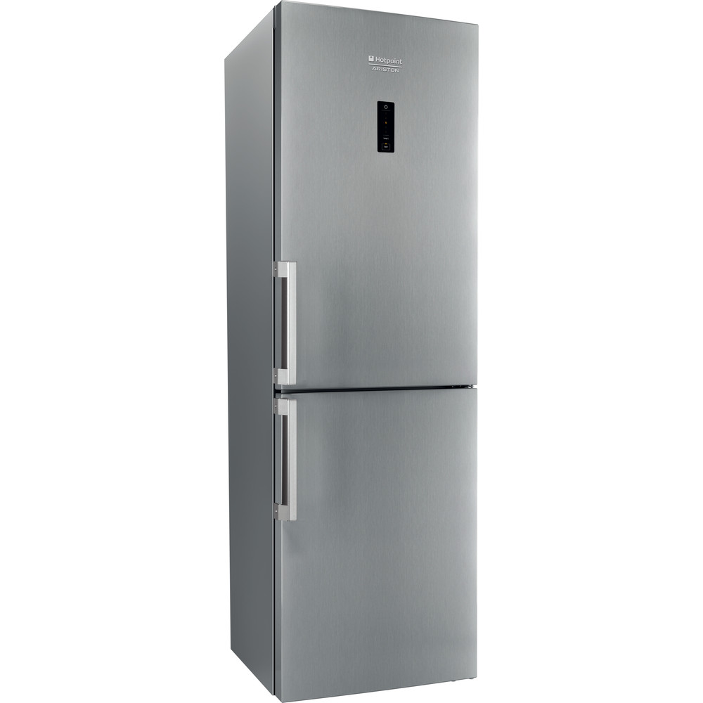 Hotpoint_Ariston Комбиниран хладилник с фризер Свободностоящ XH8 T2O XZH/1 Инокс 2 врати Perspective