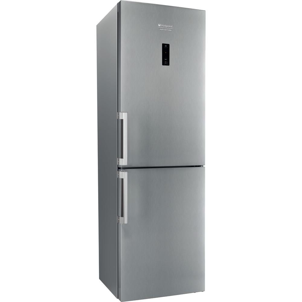 Hotpoint_Ariston Combinație frigider-congelator Neincorporabil XH8 T2O XZH/1 Inox 2 doors Perspective