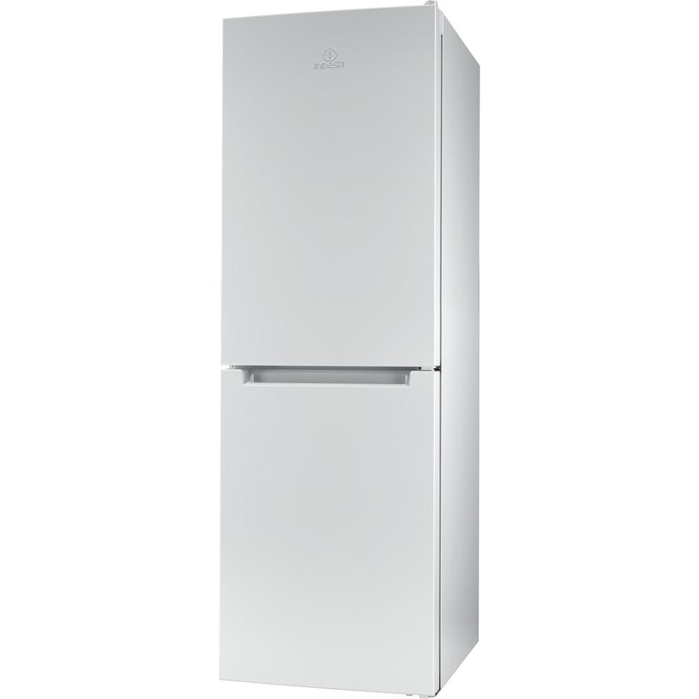 Indesit Комбиниран хладилник с камера Свободностоящи LR7 S1 W Бял 2 врати Perspective