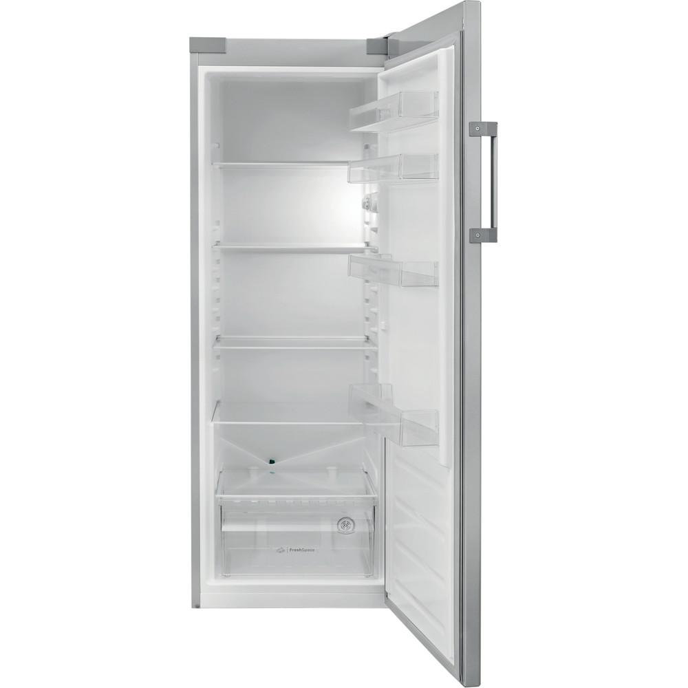 Indesit Réfrigérateur Pose-libre SI6 1 S Argent Frontal open