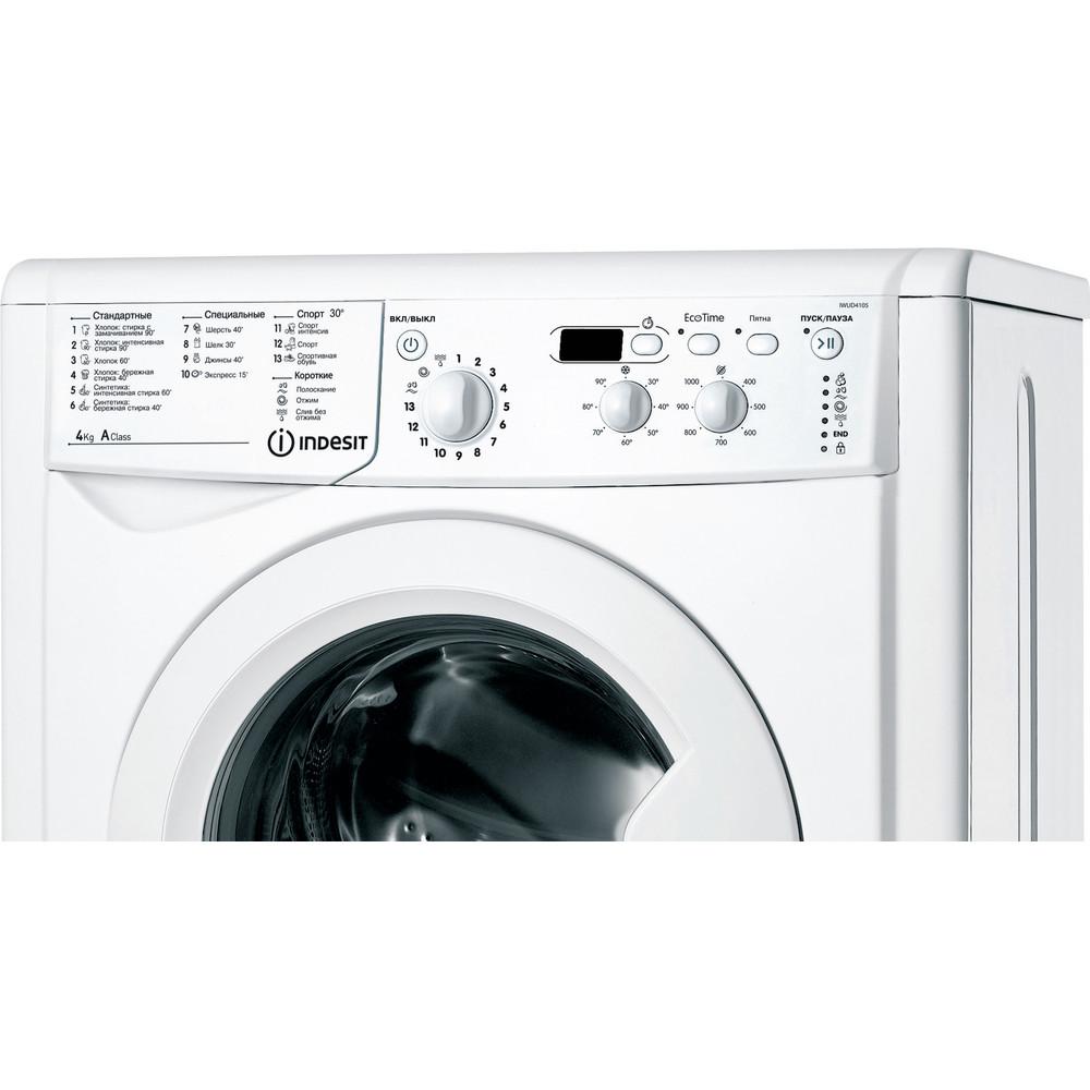 Indesit Стиральная машина Отдельностоящий IWUD 4105 (CIS) Белый Фронтальная загрузка A Control panel
