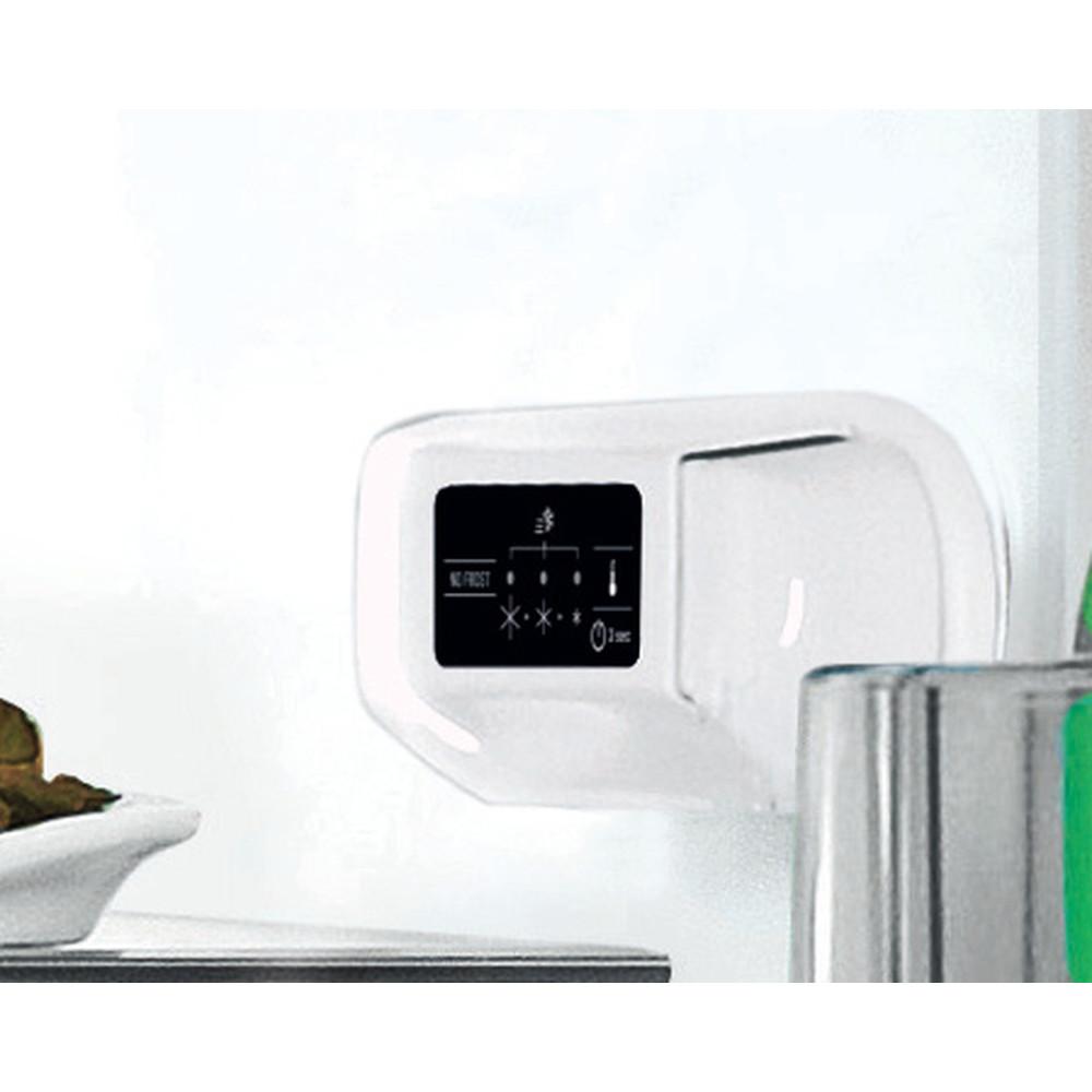 """""""Indesit"""" Šaldytuvo / šaldiklio kombinacija Laisvai pastatoma LI7 SN1E X Nerūdijančio plieno 2 doors Lifestyle control panel"""