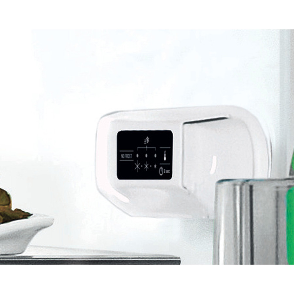 Indesit Køleskab/fryser kombination Fritstående LI8 SN1E X Rustfrit stål 2 doors Lifestyle control panel