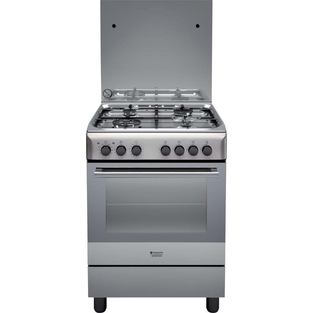 Hotpoint_Ariston Cucina con forno a doppia cavità H6TMH2AF (X) IT Inox GAS Frontal