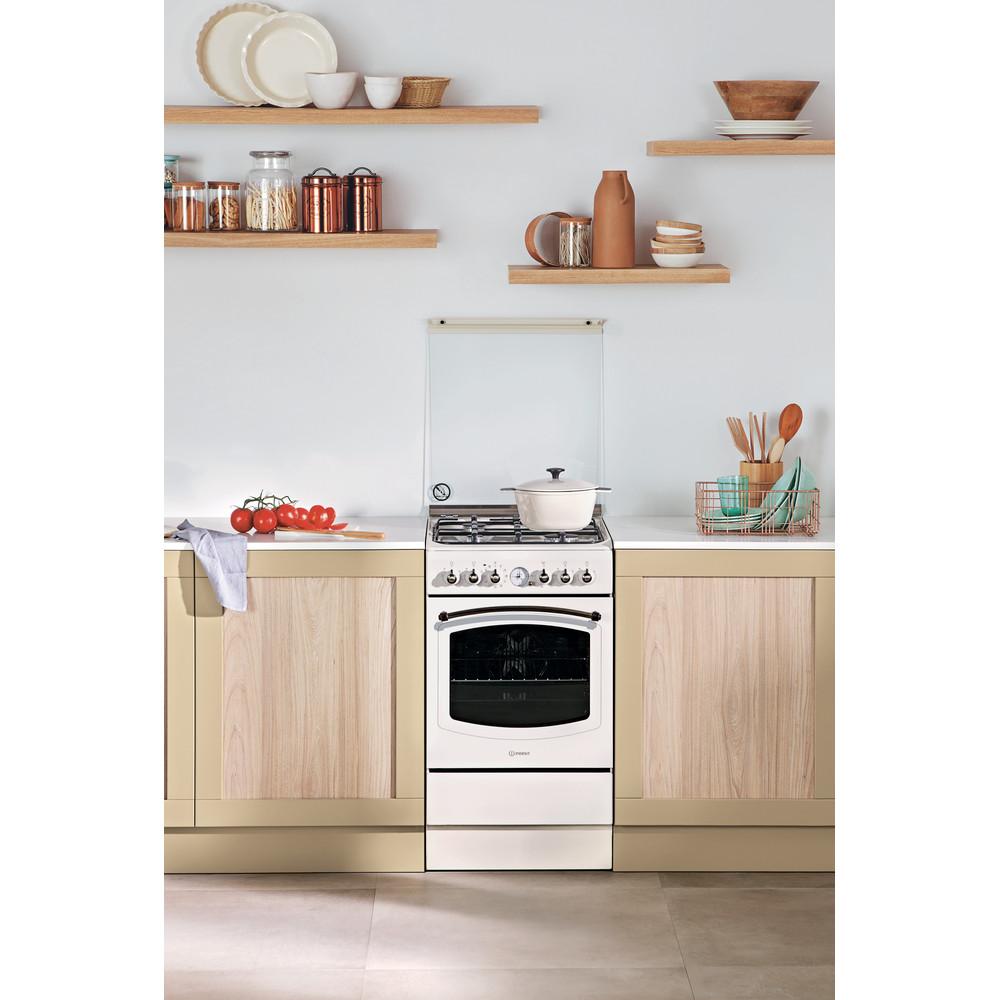 Indesit Cucina con forno a doppia cavità IS5G1MMJ/E Jasmine GAS Lifestyle frontal