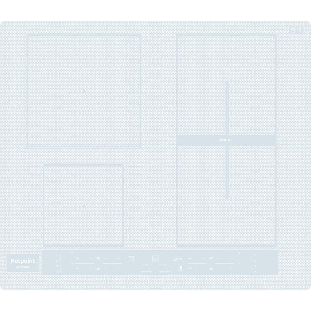 Hotpoint_Ariston Piano cottura HB 8460B NE/W Bianco Induction vitroceramic Frontal