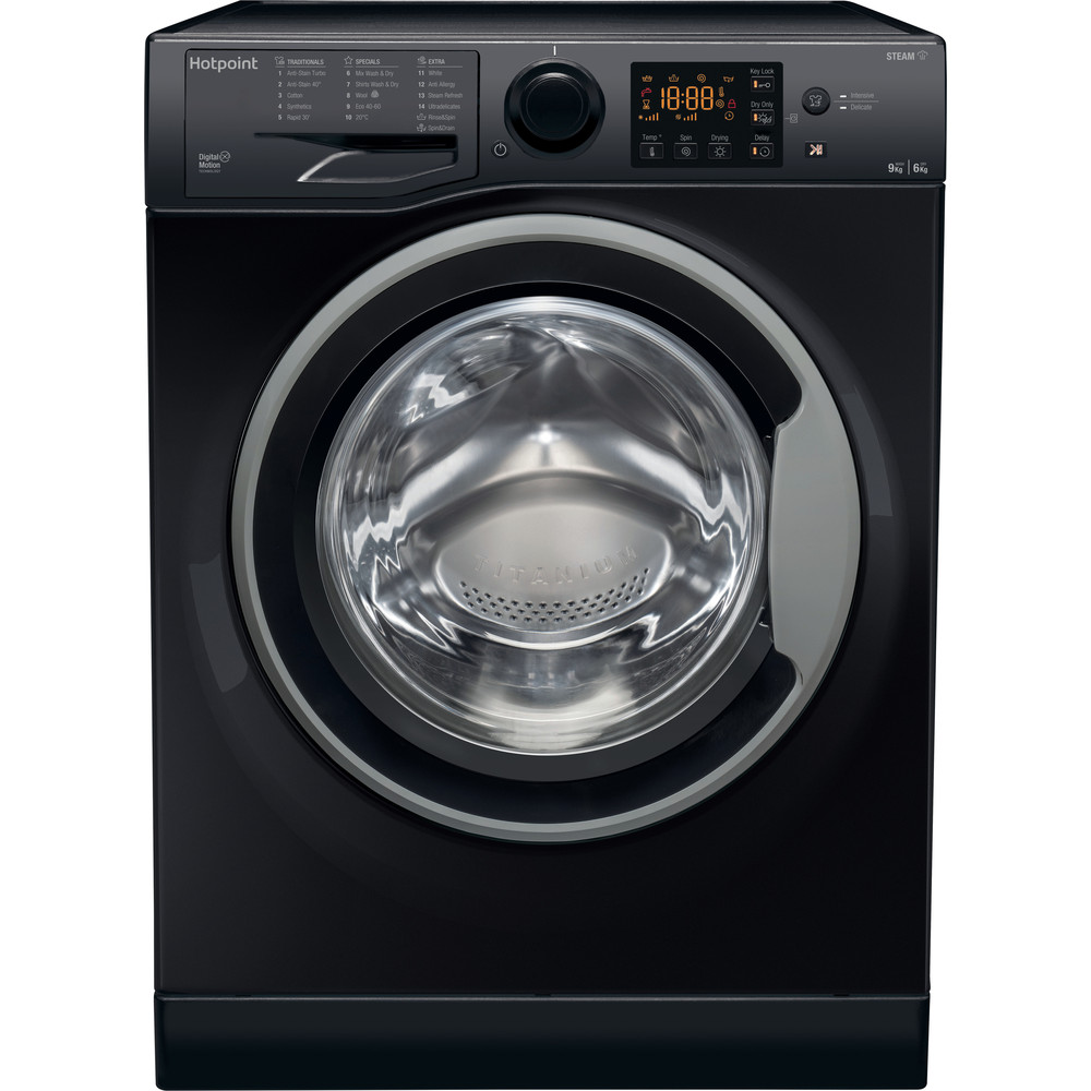 Hotpoint Washer dryer Free-standing RDG 9643 KS UK N White Front loader Frontal