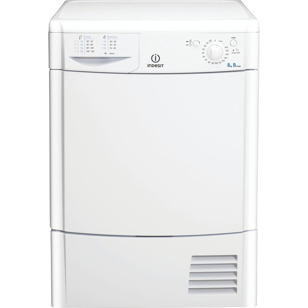 Indesit Dryer IDC 8T3 B (UK) White Frontal