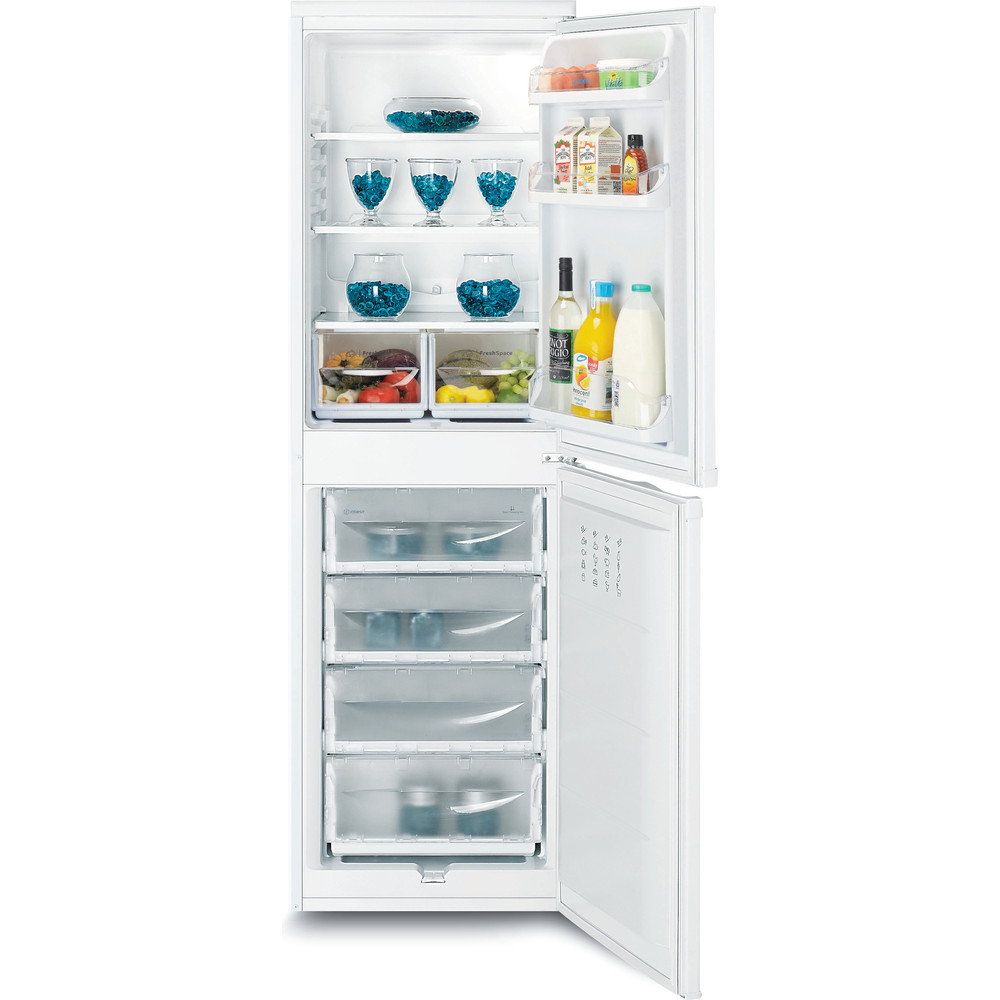 Indesit Fridge-Freezer Combination Free-standing IBD 5517 W UK 1 White 2 doors Frontal open