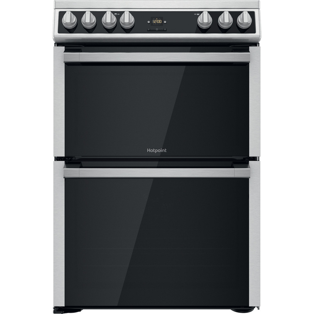 Hotpoint Double Cooker HDT67V9H2CX/UK Inox A Frontal