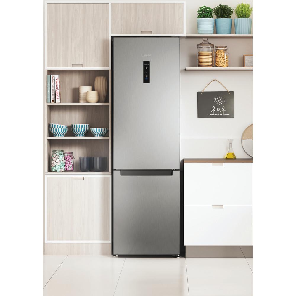Indesit Холодильник с морозильной камерой Отдельностоящий ITS 5180 X Inox 2 doors Lifestyle frontal