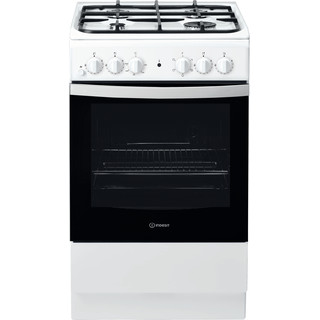 Indesit Cucina con forno a doppia cavità IS5G4KHW/EU Bianco GAS Frontal