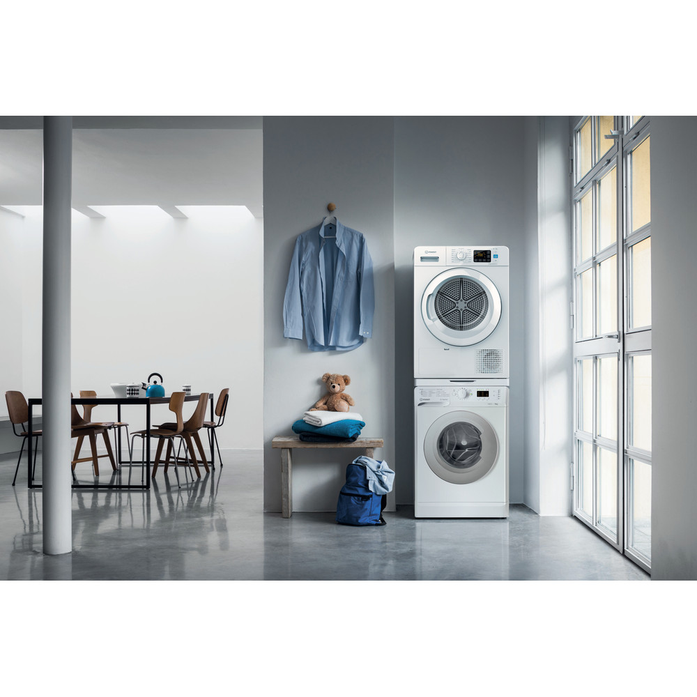 Indesit Dryer YT M11 82 X UK White Lifestyle frontal