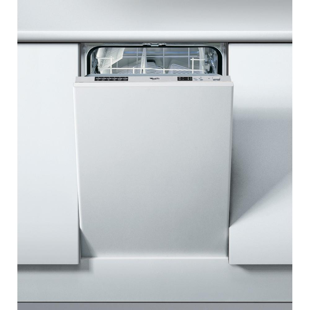 Whirlpool integrerad diskmaskin: färg silver, 45 cm - ADG 155