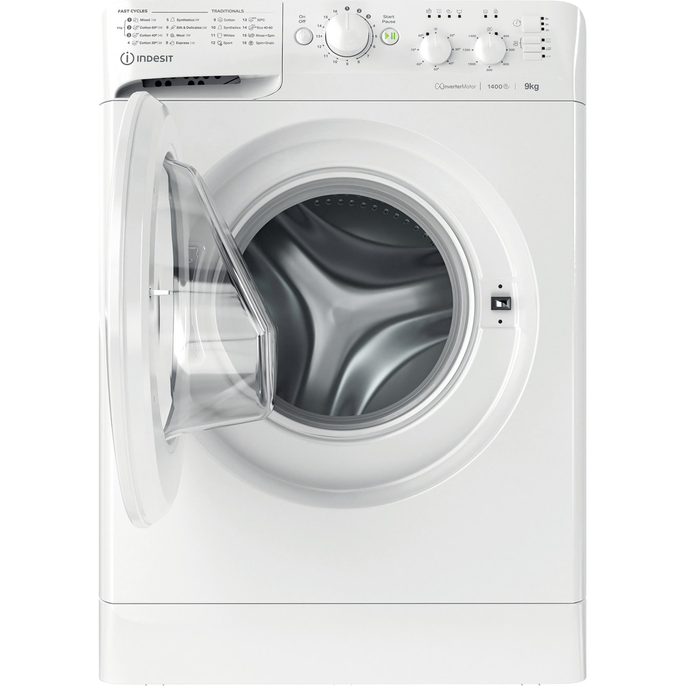 Indesit Washing machine Free-standing MTWC 91483 W UK White Front loader A++ Frontal open